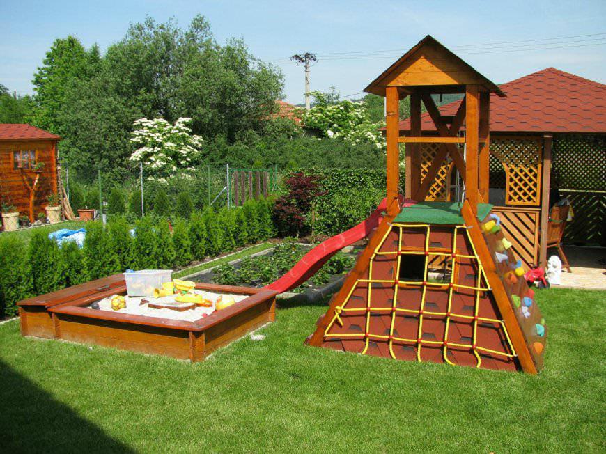 Дачная детская площадка своими руками фото 27